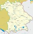 Подробная карта Баварии